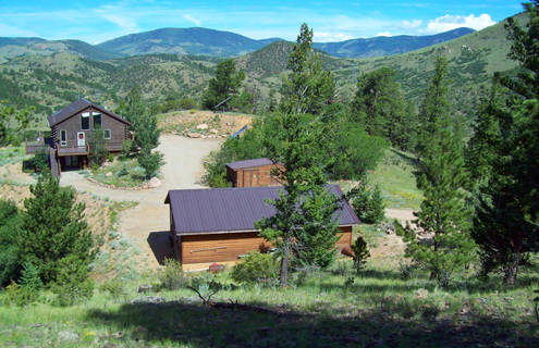 Secluded and private mountain getaway near salida co for Secluded mountain homes for sale
